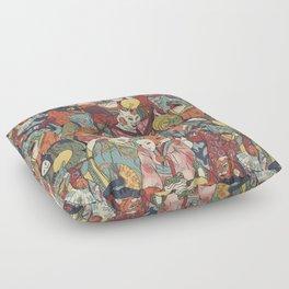 Night parade Floor Pillow