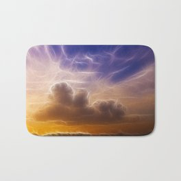 Fractal skies sunset Bath Mat