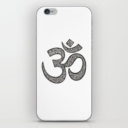 Hand-drawn pen and ink ornamental Om (aum) iPhone Skin