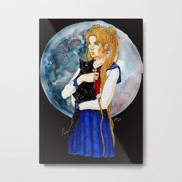 Moon Power Metal Print