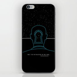 Meet you in Malkovich in one hour iPhone Skin