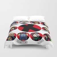 xmen Duvet Covers featuring Xmen Evolution - Team Xmen by TMNT-Raph-fan