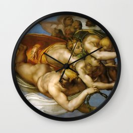 "Michelangelo ""The Last Judgment""(detail) Wall Clock"