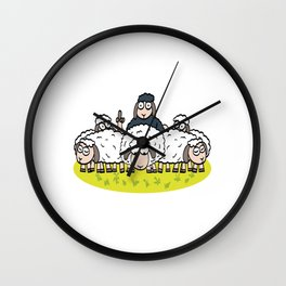"Funny Adult Humor Shirt For Adults ""Sheep"" Fur Farm Sexual Intercourse T-shirt Design Naughty Fuck Wall Clock"