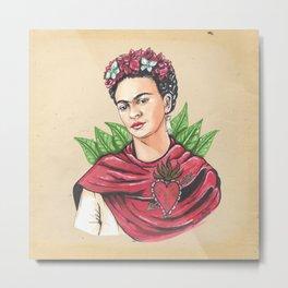 Frida an sacred heart Metal Print