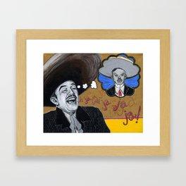 Pedro Infante vs. Jorge Negrete Framed Art Print