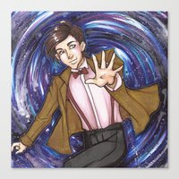 dr who Canvas Prints featuring Dr. Who  by Synth Obscura Art