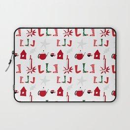 Christmas Cosy white Laptop Sleeve