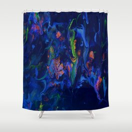 Midnight Mist In Blue Shower Curtain