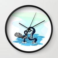 kraken Wall Clocks featuring Kraken by JKyleKelly