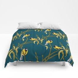 view in the garden Comforters