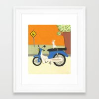 motorbike Framed Art Prints featuring motorbike by Valeria Cis