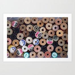 Thread Spools Art Print