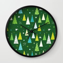 Christmas Forest Wall Clock