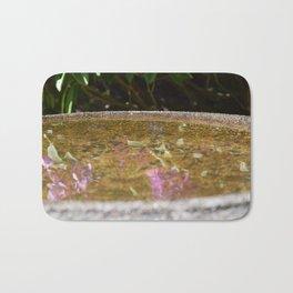 Bird Bath Reflection  Bath Mat