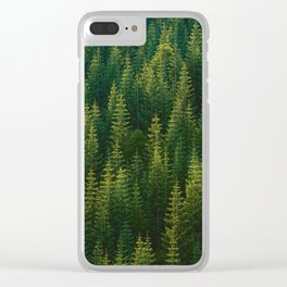 The Green Forest (Color) Clear iPhone Case