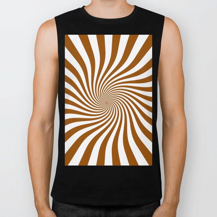 Swirl (Brown/White) Biker Tank