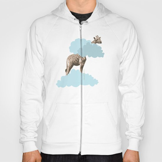 Giraff in the clouds . Joy in the clouds collection Hoody