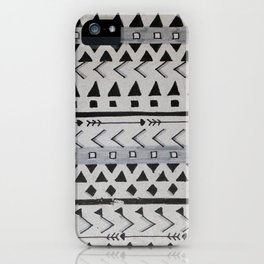 Gray Lines iPhone Case