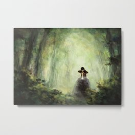 Merlin: Placing the sword in the stone Metal Print