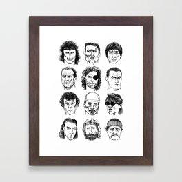 80s Action Stars Framed Art Print