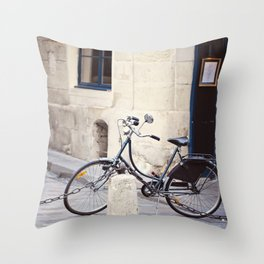 Parked In Paris Throw Pillow