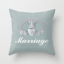 August Marriage Throw Pillow