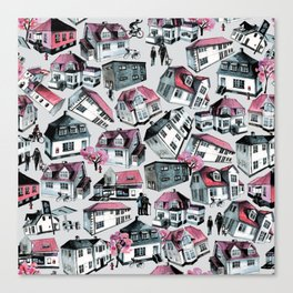 Danish small town pattern Canvas Print