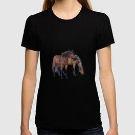 Horses in a misty dawn T-shirt