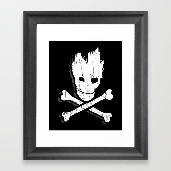 Groot & Bones Framed Art Print