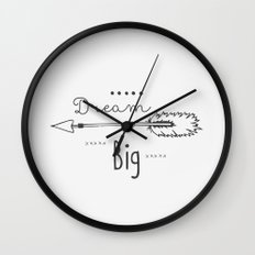 Dream big gray Wall Clock