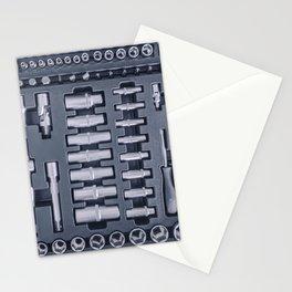 Industrial Socket Set inside Toolbox, Ratchet Socket Kit Stationery Cards