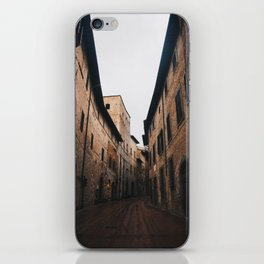 Medieval alley in Tuscany iPhone Skin