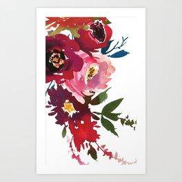 Falling Flowers Art Print