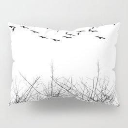 black and white winter landscape Pillow Sham
