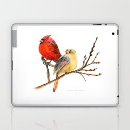 The Perfect Pair - Male and Female Cardinal by Teresa Thompson Laptop & iPad Skin
