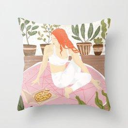 Yoga + Pizza Throw Pillow