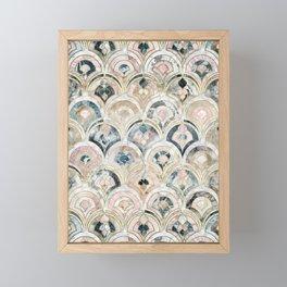 Art Deco Marble Tiles in Soft Pastels Framed Mini Art Print