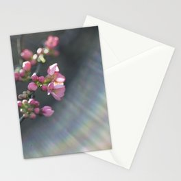 Rainbow with pink blossom Stationery Cards