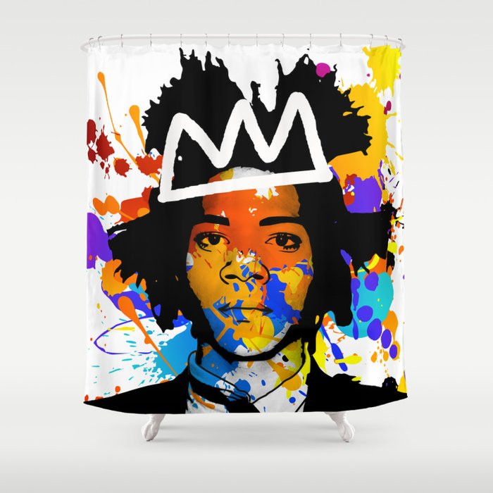 BASQUIAT Shower Curtain By Sebthemonk