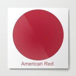 American Red Metal Print