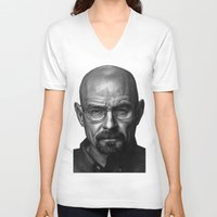 heisenberg V-neck T-shirts featuring Heisenberg by Mike Robins