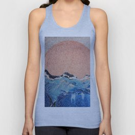 Sun of a Harvey - Storm Struggle Inspo - Acyrlic Painting Unisex Tank Top