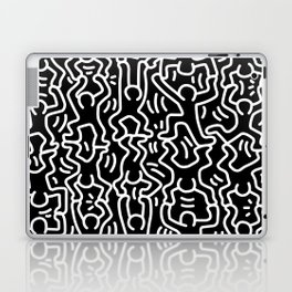 Figures Variation Keith Haring Black Laptop & iPad Skin