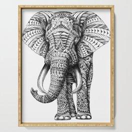 Ornate Elephant Serving Tray