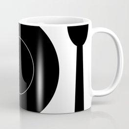 cutlery with plate Coffee Mug