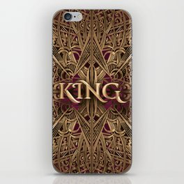 Rose Gold King iPhone Skin