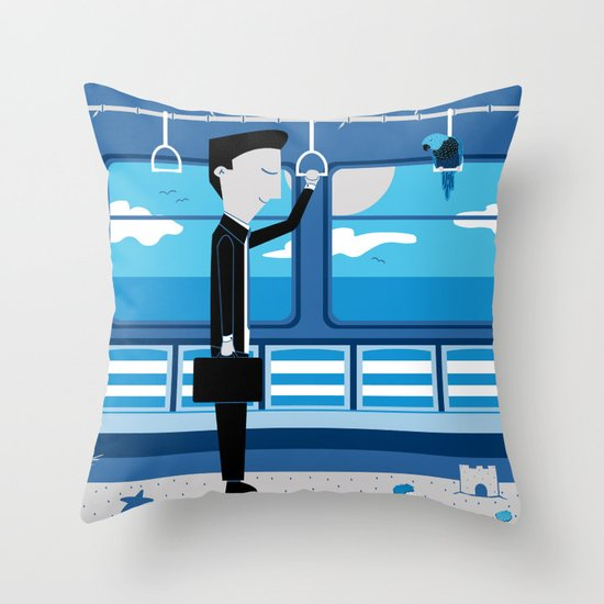 Dreaming of Holidays Throw Pillow