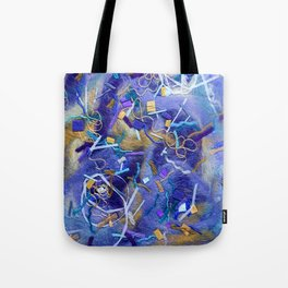Purple Constellation Fibre Painting Tote Bag