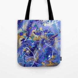 Purple Constellation Fibre Painting Tote Bag